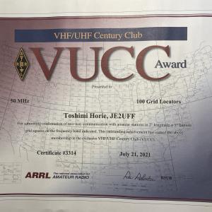 [6m] VUCCアワード到着