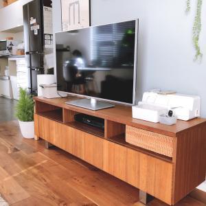 【我が家の収納⑯】リビング テレビボード 無印だらけのメイク収納