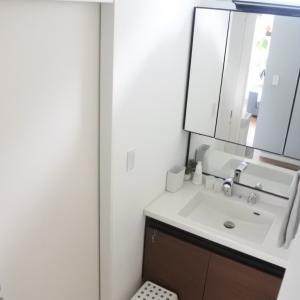【我が家の収納⑤】洗面台収納 開き扉でも使いやすく