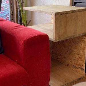 【端材でDIY】おしゃれな手作りサイドテーブルが使い勝手抜群だった!