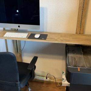 1畳でも仕事スペースが欲しくて自作デスクを作ってみた。2×4材とラブリコなら本棚も物干しも自分好みに仕上げられます。その②