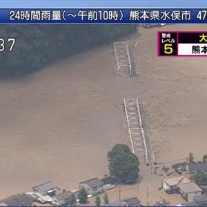 今日の浅間山 2020年7月4日(土) 豪雨災害