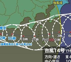 今日の浅間山  2021年9月18日(土 )台風14号上陸、大雨、洪水、土砂崩れにご注意!