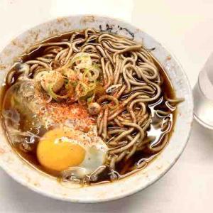 ◆札幌 ひのでそば(立ち食い・月見そば)◆