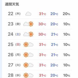 ◆連日の30度超え◆