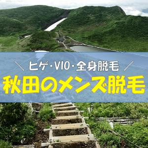 秋田のメンズ脱毛(ヒゲ・VIO・全身)の料金・金額比較