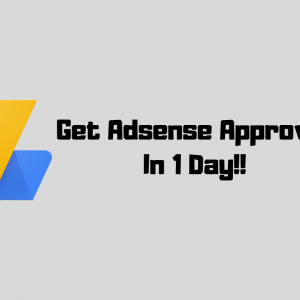 How To Get Adsense Approval In One Day : Step By Step Full Guide