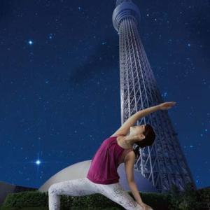 東京スカイツリータウンで秋の夜長にヨガを楽しめる「夜空ヨガ」開催