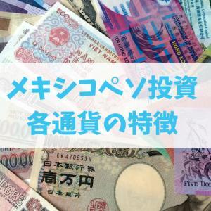 【メキシコペソ投資】知っておいた方がいい!メジャー・マイナー通貨の特徴