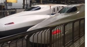 新幹線を見る