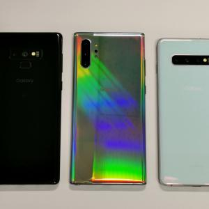 Galaxy Note10+を早速購入して旧モデルと比較-Galaxy Note10+/S10+/Note9