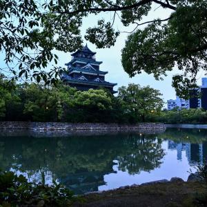 広島城 ブルーライトアップ