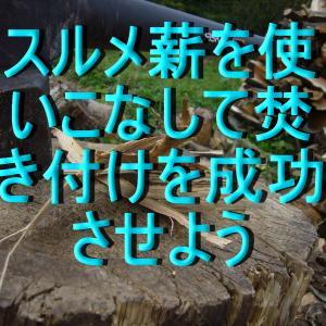 【薪ストーブ】スルメ薪を使いこなして焚きつけを成功させよう。
