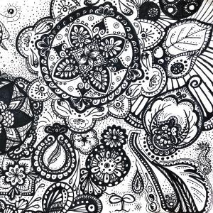 地球はそのまんまで芸術だ。生命の神秘に感動、、、サインペンアート②