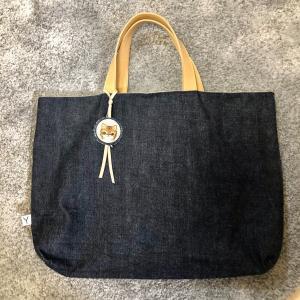 学校の手さげかばんを作ったよ。好みがうるさい小4娘へデニム生地でおしゃれな手さげ♪