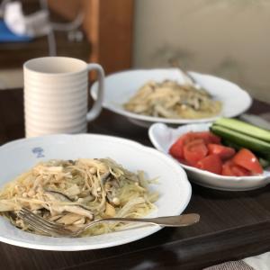 別宅の昼食(2) #地野菜 #松本市