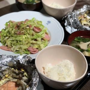 別宅の夕食(2)#おうちごはん #信州産 #ホモソーセージ