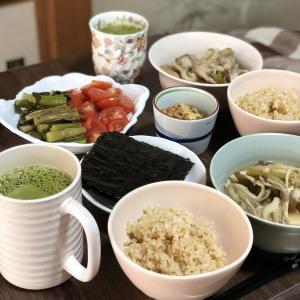 別宅の朝食(6) #おうちごはん #野沢菜 #信州産 #松本市