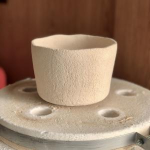 楽茶碗《11》を素焼した。#陶芸 #楽焼 #楽茶碗