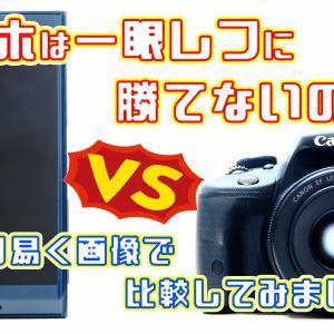 【画像比較】スマホカメラは一眼レフカメラに勝つことが出来ないのか?