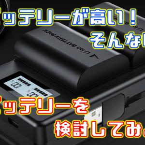カメラの純正バッテリーは高い!そんな時は社外バッテリーを検討してみよう!