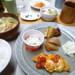 納豆、具たくさん味噌汁で朝ごはん♪子ども食堂メニューはカレーうどん