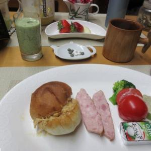 ピーナツバターパンで朝ごはん♪生地がモチモチして美味しい~