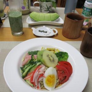 冷やし中華で朝ごはん♪美味しくて完食!