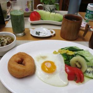 豆乳おからドーナツ、きのこスープで朝ごはん♪