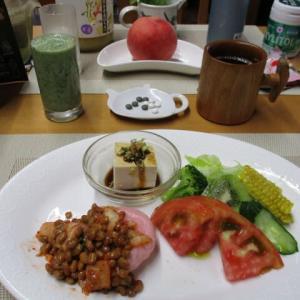 キムチ納豆餅で朝ごはん♪オリンピック開幕式、素晴らしかったですね。