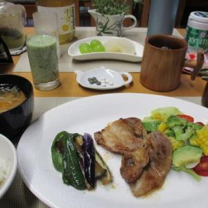豚ロース生姜焼きで朝ごはん♪