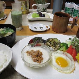 山芋納豆で朝ごはん♪