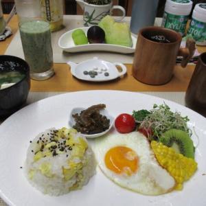 栗ご飯、ゴーヤ佃煮で朝ごはん♪
