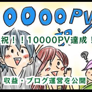 ようやく10000PV達成!ブログ記事数・収益公開と今後のブログ運営・戦略について