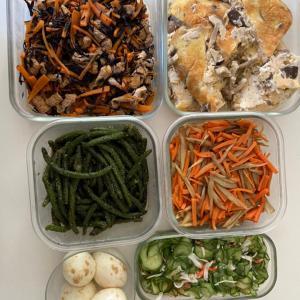 早朝常備菜作りと運動会と。