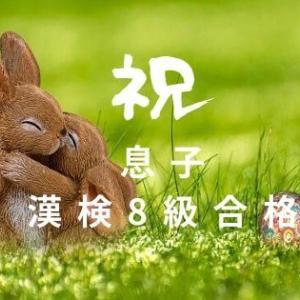 息子が漢字検定8級に受かったよ~!一夜漬け勉強の甲斐がありました!