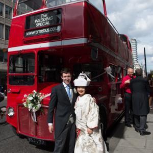 ロンドンで白無垢を着た日