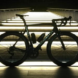 ロードバイクで夜ポタ