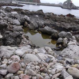 【式根島 足付温泉】自然に出来た壺湯の野湯に無料入浴