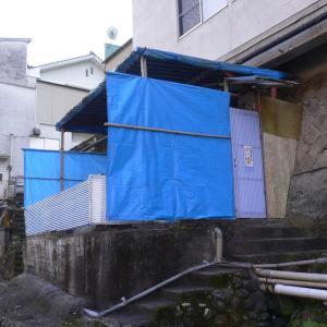【天ヶ瀬温泉 古湯】ブルーシートの混浴共同浴場