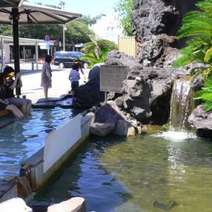 【熱海温泉 家康の湯】熱海駅のロータリーにある足湯