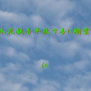 『 木花観音平伏す吾に鰯雲 』瘋癲老仁妄詩070-09zpr1009