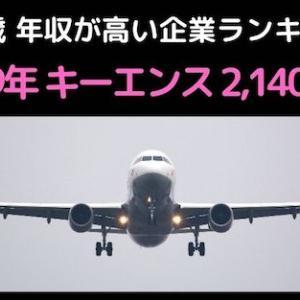 ◆40歳 年収が高い企業ランキング:2019年◆キーエンス:2140万円