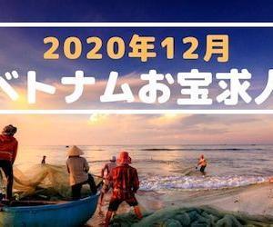 ◆ベトナムお宝求人:2020年12月◆ホーチミン・ハノイ厳選