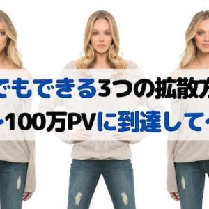 ◆ブログで収益化◆誰でもできる3つの拡散方法:100万PV達成して