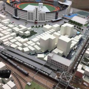 阪急西宮球場と阪急西宮北口駅 (´∀`) ダイヤモンドクロスのジオラマ