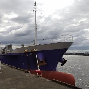 多目的貨物船 はるか (*´-`) 天保山にて #大阪港 #天保山 #船舶 #貨物船 #船 #トランスオーシャン #多目的貨物船 #釣り #立入禁止