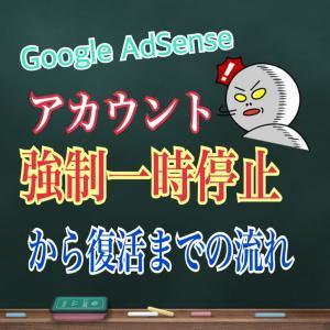 【一時停止から復活】Google AdSense 30日間のアカウント強制一時停止から復活までの流れ