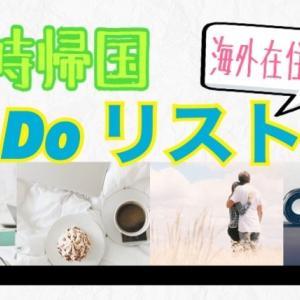 【海外在住者】一時帰国で何をする?  一時帰国To Do リスト