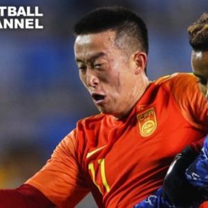 【動画】中国カンフーサッカー殺人カンフータックルが橋岡大樹の頭部にさく裂!E1